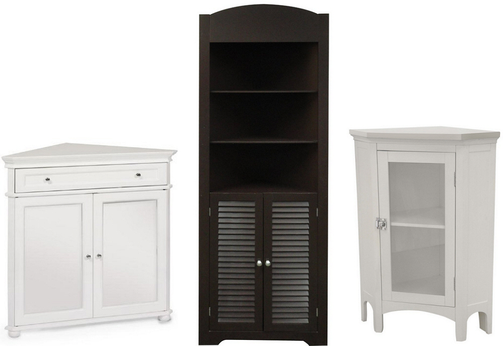 bathroom corner storage cabinets choozone. Black Bedroom Furniture Sets. Home Design Ideas