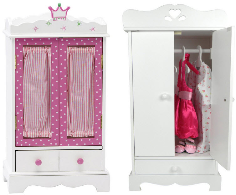 Superbe Closet For Doll Clothes   B