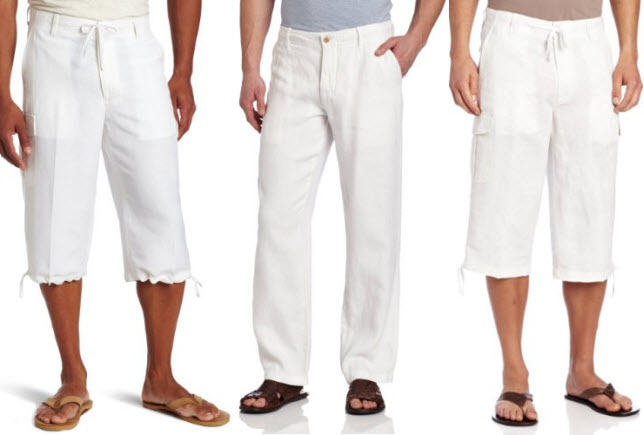 Mens White Linen Beach Pants – ChoozOne