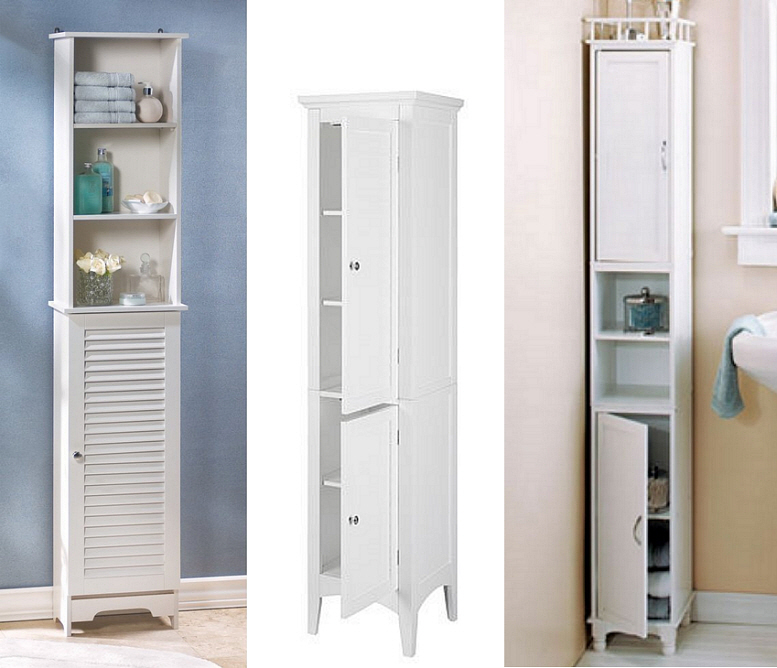 Slim storage cabinet by lcl roselawnlutheran Thin bathroom cabinet