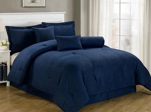Navy Blue Comforter Sets King Choozone