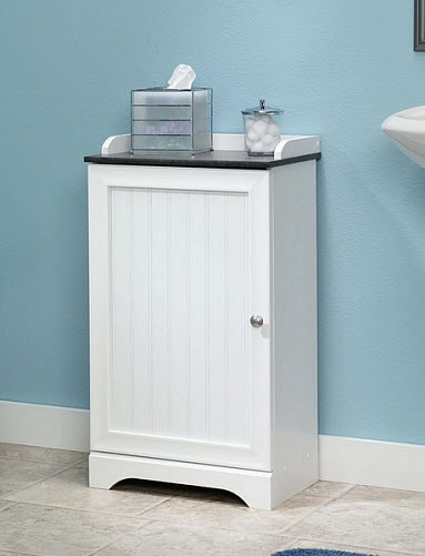 small storage cabinets for bathroom pictured sauder caraway floor