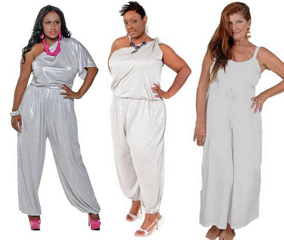 White jumpsuits for women plus size - b