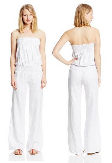 c14aa02be923 White linen strapless jumpsuit – ChoozOne