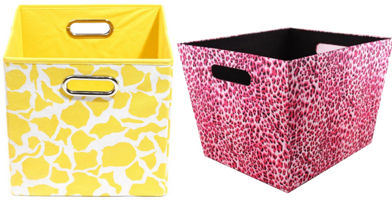 Merveilleux Animal Print Storage Bins