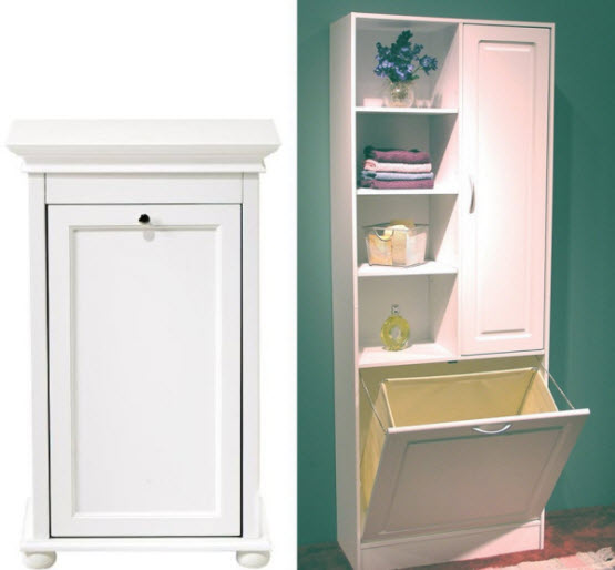 bathroom cabinet hampers pictured left hampton bay tilt out hamper