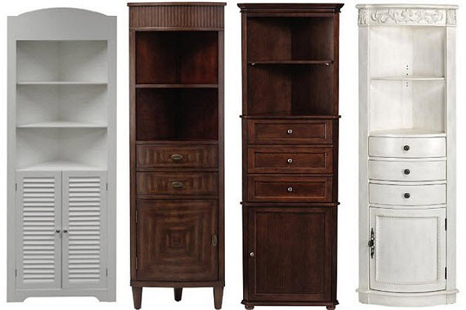 bathroom corner storage cabinets - 2