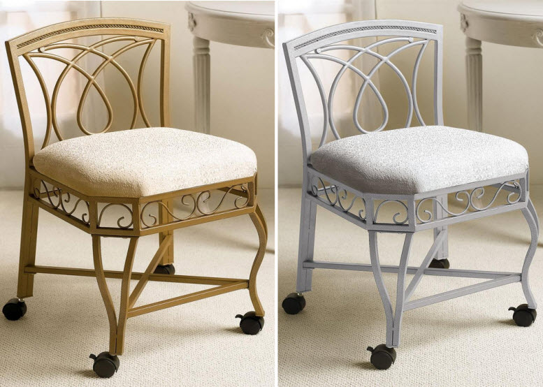Bathroom vanity chairs with wheels – Chooz e