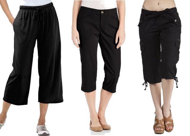 black capri pants for women - Pi Pants
