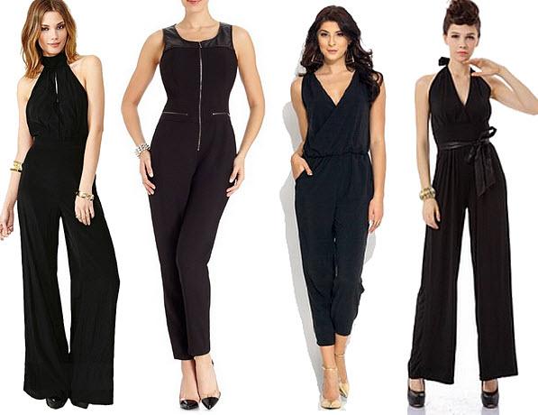 Black dressy jumpsuits