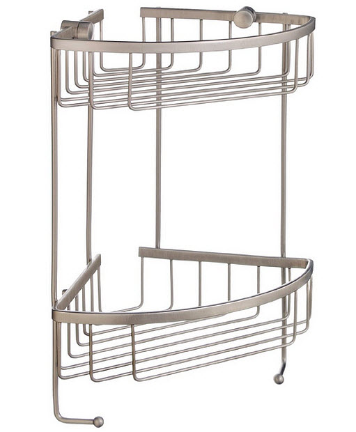 brushed nickel corner shower caddy – ChoozOne