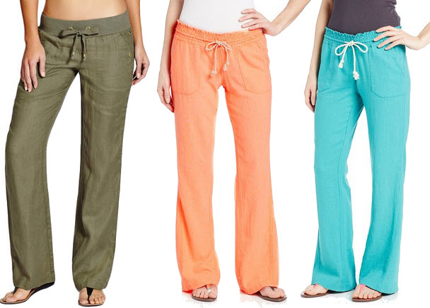 Colored linen pants for women – ChoozOne