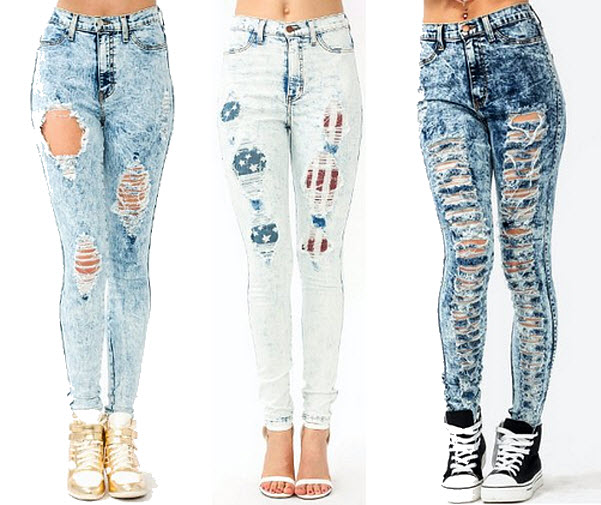 Cut up jeans for women – ChoozOne