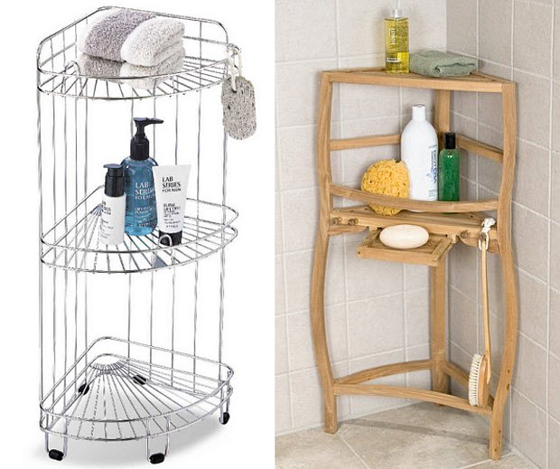 Free standing shower shelves choozone - Free standing corner bathroom shelves ...