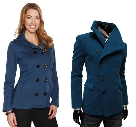 Light blue pea coat – ChoozOne