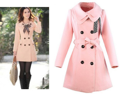 Light Pink Long Coat Coat Nj