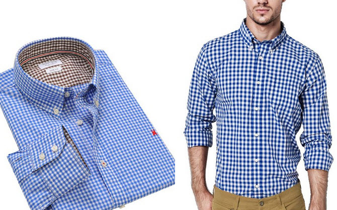 Mens blue and white checkered shirt – ChoozOne