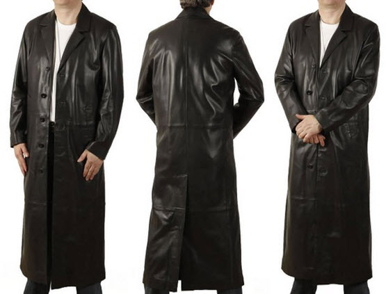 Long black leather coats for men – ChoozOne