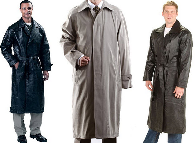 Mens long trench coats
