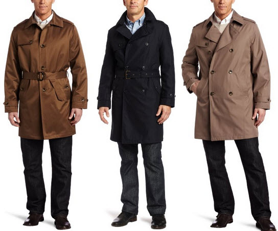 Mens short trench coats
