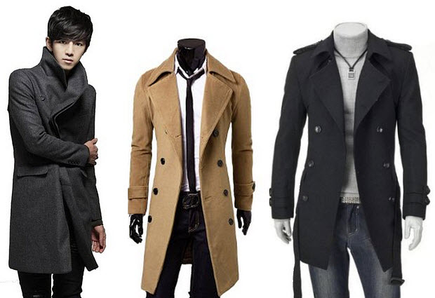 Mens winter trench coats