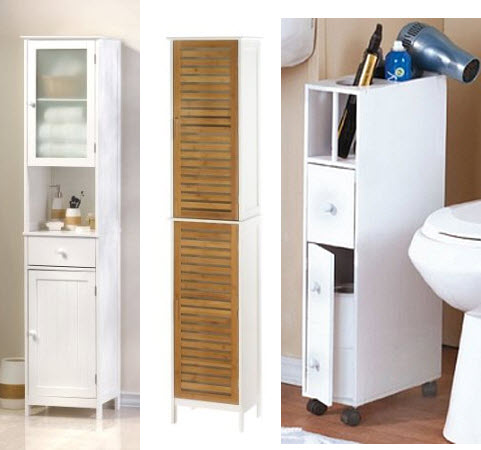 28 lastest bathroom storage narrow spaces Thin bathroom cabinet