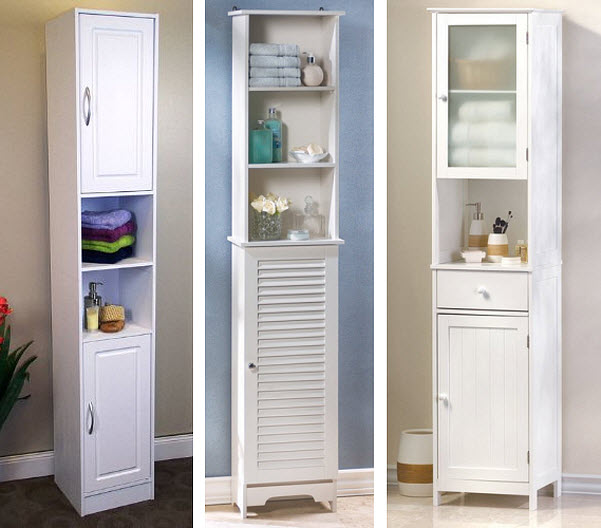 Narrow White Cabinet Choozone