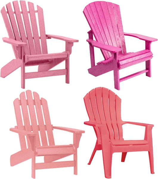 Pink Plastic Adirondack Chairs