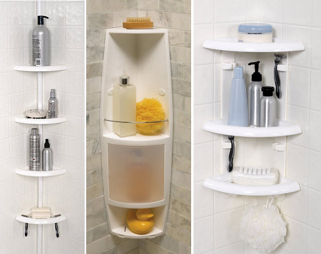 plastic corner shower caddy