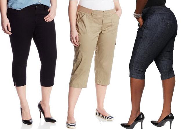 plus size capri pants for women – ChoozOne