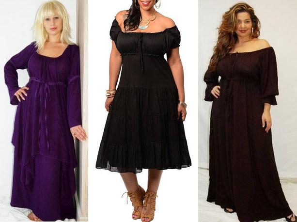 Plus Size Peasant Dress Choozone