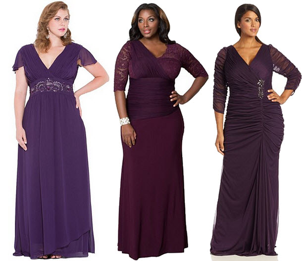 Plus Size Purple Formal Dresses Choozone