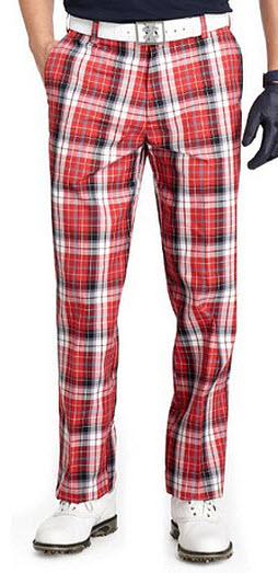 red plaid golf pants-2