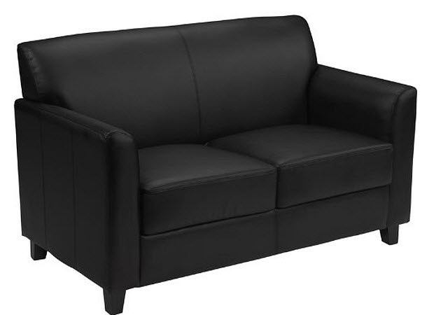 small black leather couch choozone