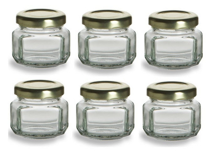 small glass jars for crafts
