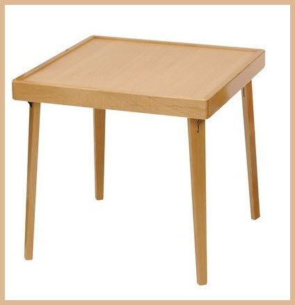 Small wood folding table pictured stakmore childrens folding table by