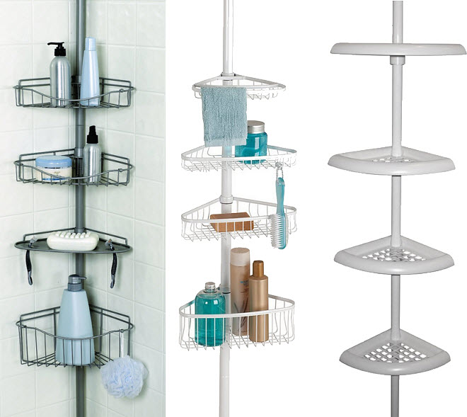 Tension Pole Corner Shower Caddy chapter tension pole shower caddy | shoe800