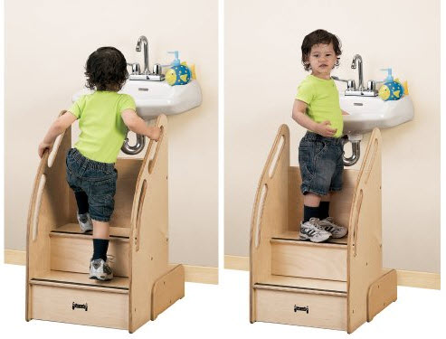 Toddler Step Stool With Rail Choozone