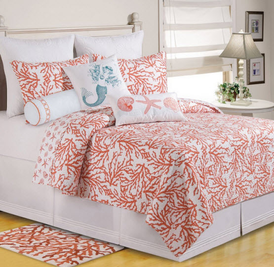 Turquoise And Coral Bedding Choozone