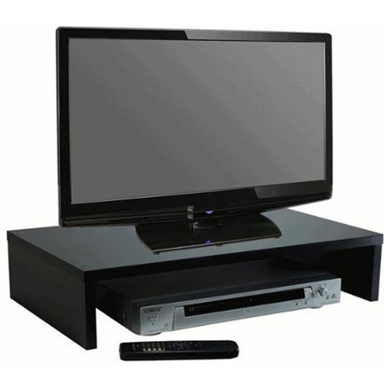 under tv shelf for cable box choozone. Black Bedroom Furniture Sets. Home Design Ideas