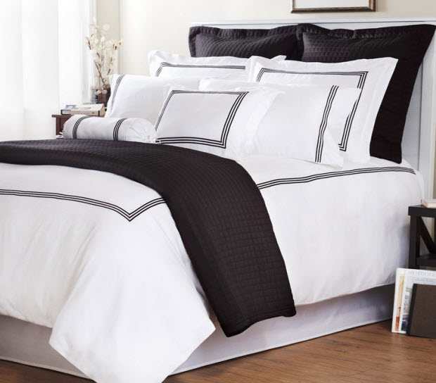 White comforter with black trim – ChoozOne