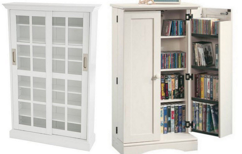 White Dvd Storage Cabinet Choozone