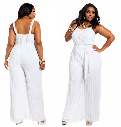 white jumpsuits for women plus size