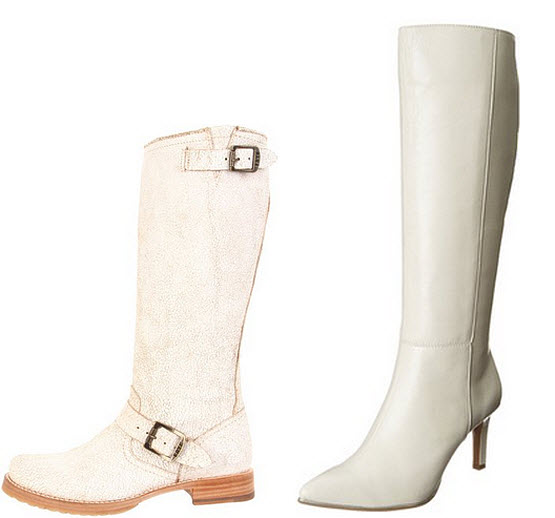 White leather boots for women choozone