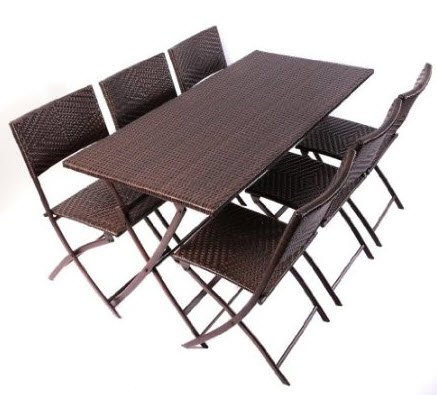 wicker folding table