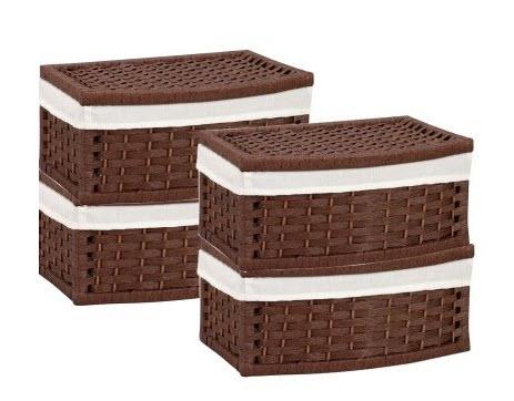 wicker storage baskets with lids choozone. Black Bedroom Furniture Sets. Home Design Ideas