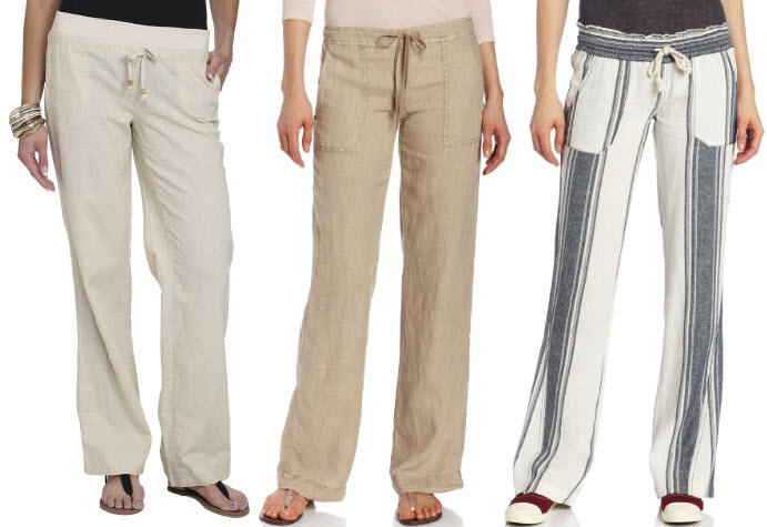 womens linen drawstring pants - Pi Pants