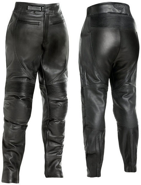Beautiful River Road Womens Sierra Cool Leather Classic Motorcycle Riding Pants