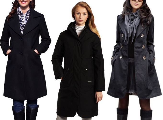 Womens Long Black Coats - JacketIn