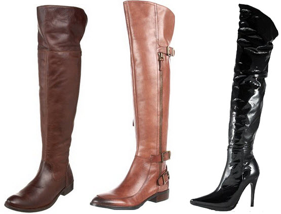 womens over the knee leather boots – ChoozOne